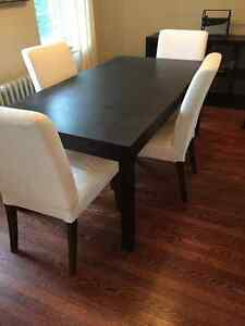 Dining room set - 6 chairs and table