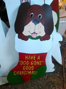 Outside Christmas ornaments Dog in sock