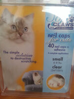 Nail caps for Cats (40 caps +  adhesive-4 complete applications)