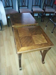 solid wood end tables.not sure are if are Ashley .
