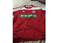 2012-2013 signed Middlesbrough shirt
