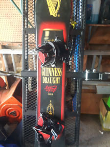 Limited edition Guinness snowboard with flow bindings
