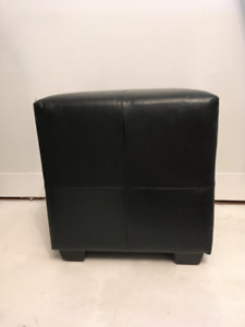 Upholstered Black Stool