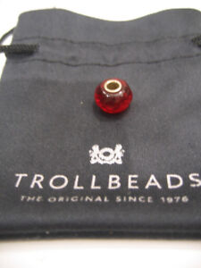 TROLLBEADS  RUBY RED GLASS BRACELET BEAD