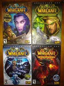 World of Warcraft, BC, WotLK, Cata, complete retail boxes
