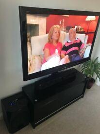 50 inch HD Panasonic Viera TV and stand