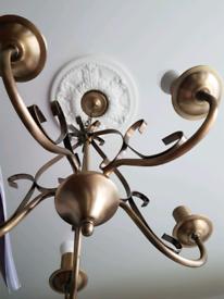 Ceiling lamp chandelier 5 light chrome