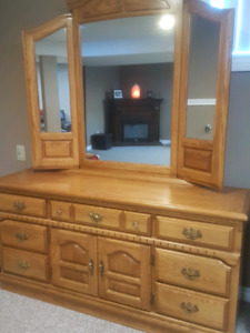 Dresser with mirror for sale .