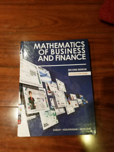 Mohawk college mathematics of business and finance