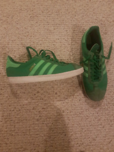 All green adidas gazelle size 10.5