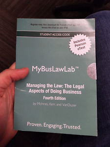 Managing the law:legal aspects of doing business fourth edition