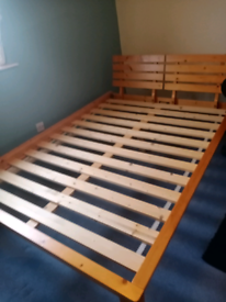 New disgn pine wood double bed frame