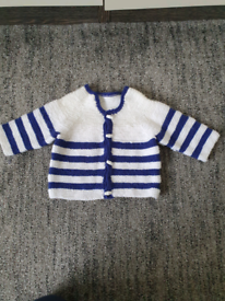 Baby brand new hand knitted cardigan