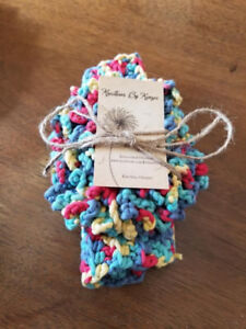 Crocheted spa and bath  items