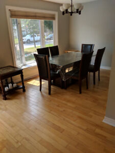 Dining set for sale. Table with six chairs