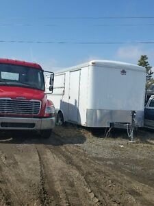 2013 White Stainless Steel Food Vendor or Cargo Trailer