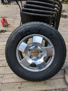 Toyota Tundra winter tires and rims