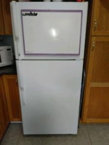 GE 17 cubic white fridge