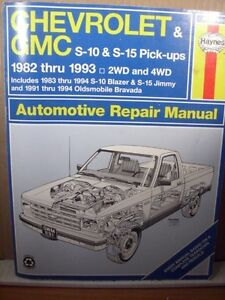 Haynes - Automotive - Repair Manual 82-93 S-10 Pickup / Blazer Cambridge Kitchener Area image 1