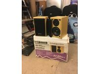 Acoustic solutions bookshelf speakers £25