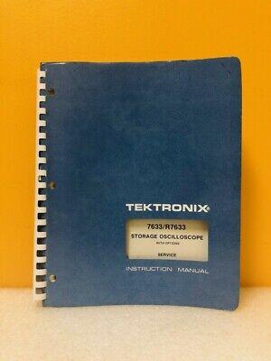 Tektronix 070-1767-00 7633r7633 Storage Oscilloscope Service Instruction Manual