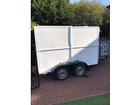Full box double wheel trailer