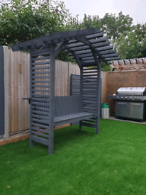 Arbour with bench