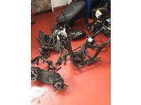 Breaking Honda Dylan PS125 NES125 SH125 parts shocks forks steering seat frame