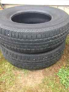 Two P225/75R15 Tires