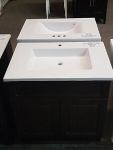 """VANITY 30"""" WITH TOP ESPRESSO OR WHITE"""