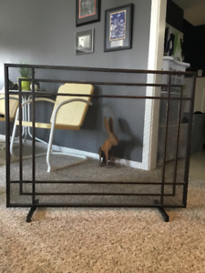 Crate and Barrel Like New Fire Screen