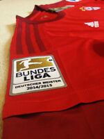 2015/2016 Bayern Munich Home Soccer Jersey (S) w/ Patches!