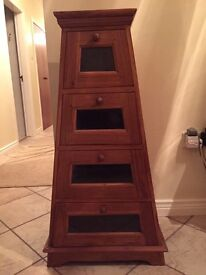 Wooden Pyramid Chest Of Drawers / Dresser