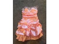Prom party dress size 8 pink