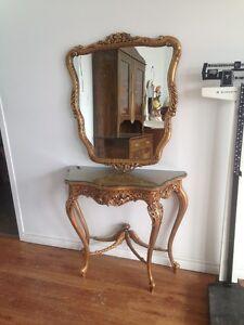 table console  avec miroir 1967 tres deco