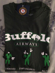 -TWO BUFFALO AIRWAYS SHIRTS BOTH BRAND NEW LARGE.OBO.