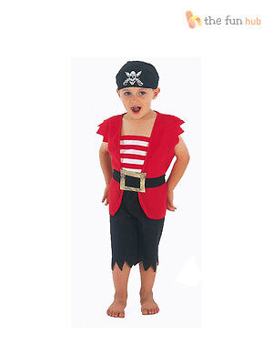 Boys Toddler Pirate Fancy Dress Up Costume  Book Week Outfit Child Kids 2-3 Year (Toddler Pirate Outfit)