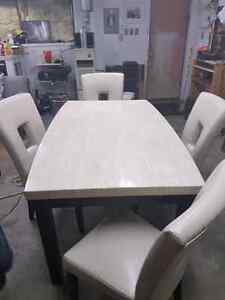 Synthetic Marble Dining Room Set