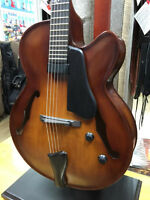 Landscape All Solid Handmade Hollow Body Guitar - Half Price!