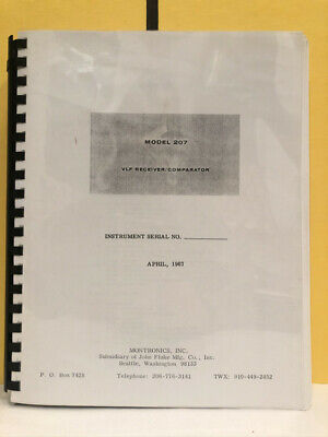Montronics Model 207 Vlf Receivercomparator Manual