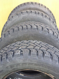 4 Winter P195/65R14 Pacemark Snowtrakker Tires with 90% tread