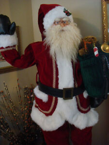 Christmas Waving Santa Clause 6 feet Animated Prop Doll