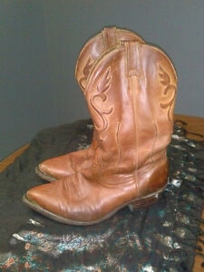 Boulet Cowboy Boots Brown Leather Western Canadian Mens Size 9