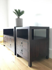 Pottery Barn Media Console with matching Side Table