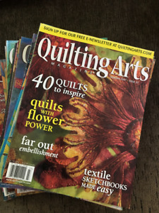Quilting Arts magazines from the early 2000s.