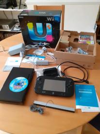 Wii U Console 32GB Premium Black + Legend of Zelda Wind Waker H D game