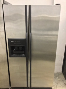 "32"" Kenmore Stainless Steel Double Door Fridge"