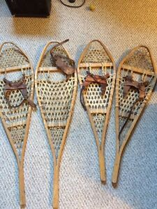 Old authentic snowshoes
