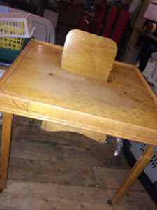 Antique collapseable High Chair / Feeding table