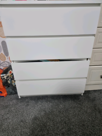 White malm chest of drawers